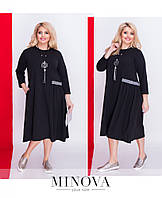 Платье женское №5074.18б-черный+гус.лапка