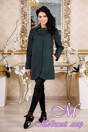 Женское пальто зеленого цвета весна-осень (р. 44-54) арт. 956 Тон 105, фото 2