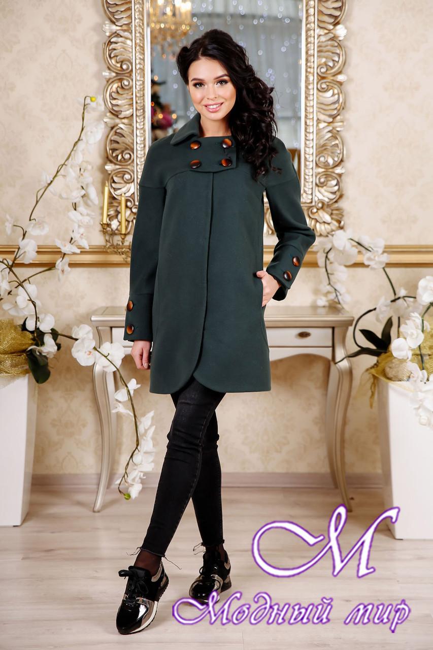 Женское пальто зеленого цвета весна-осень (р. 44-54) арт. 956 Тон 105