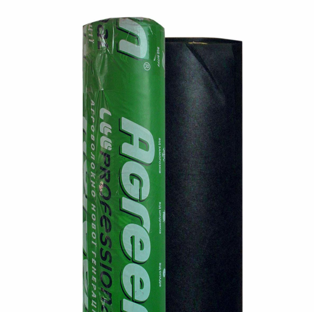 Агроволокно Agreen 50 - (1.07м х 100мп). Агроволокно черное в рулоне.