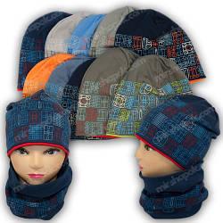 Детские трикотажные шапки для мальчиков, р. 50-52
