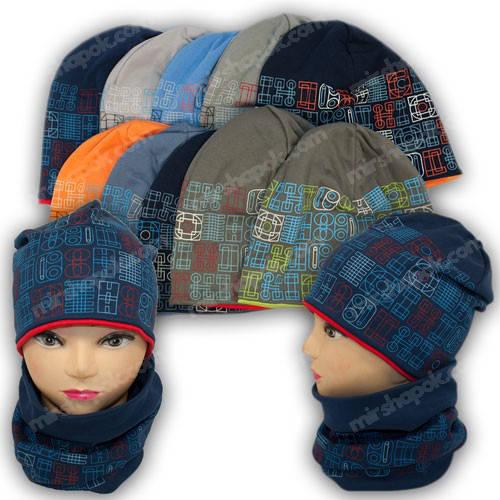 Детские трикотажные шапки для мальчиков, р. 48-50