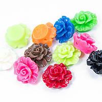 Бусины, смола, цветок, микс, 19х11,5 мм, 5 шт УТ100005995