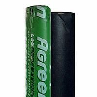 Агроволокно Agreen 50 - (1.6м х 100мп). Агроволокно черное в рулоне. (Перфорация)