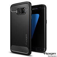 Чехол Spigen для Samsung S7 Edge Rugged Armor, Black