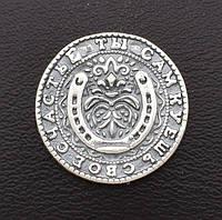 "Серебряная монета ""на богатство"", размер 20*1 мм, вес серебра 2.47 г"