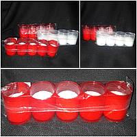 Свеча в пластиковом стакане (ПОЛЬША) 5 шт, горение 15 часов, 36\26 (цена за 1 уп+10 грн)