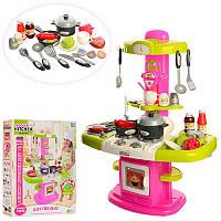 Детская кухня, посуда, духовка, мойка, 24 предмета, звук, свет, на батарейке, 16808A