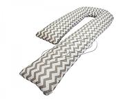 Подушка для беременных KIDIGO J - образная Зигзаги (с наволочкой) PDV-J2