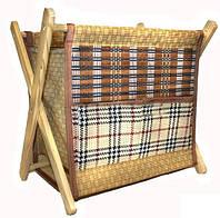 Газетница напольная из бамбука
