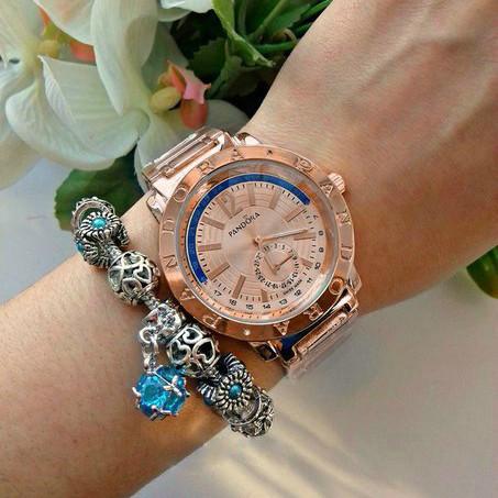 Женские часы Pandora Blue Arc бронзовые