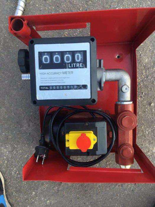 Міні Азс насос для перекачування 60 лмин заправка з відсікачем 220В, заправна станція
