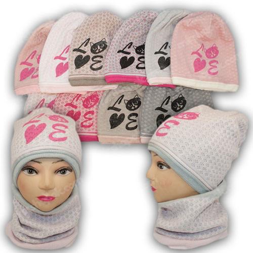 шапка і хомут для дівчинки