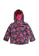 Куртка для девочки детская демисезонная розы