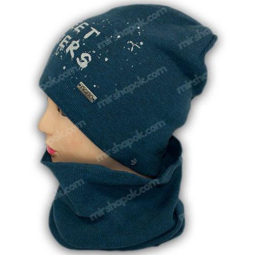 шапка с хомутом для мальчика