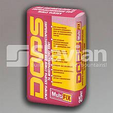 Еластична клейова суміш для пінополістирольних та мінераловатних плит DOPS MULTIFIX, 25кг
