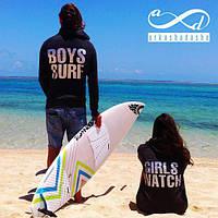 Парные толстовки, boys surf-girls watch
