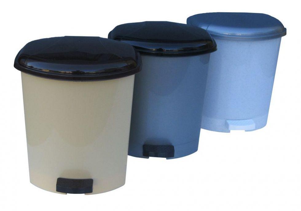 Ведро для мусора с педалью (педальное ведро) пластмассовое 9л