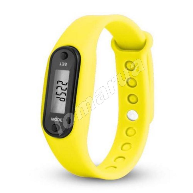 Фитнес браслет часы шагомер счетчик калорий II Yellow