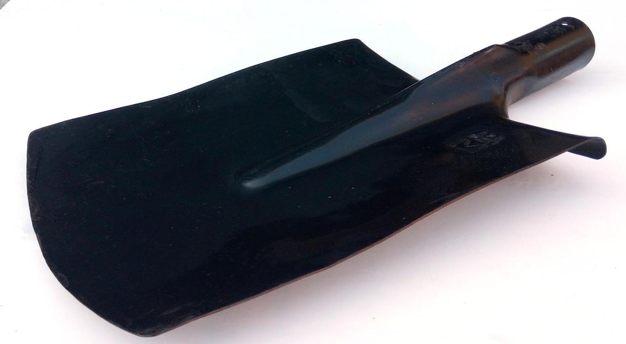 Лопата штыковая прямоугольная калённая, без ручки