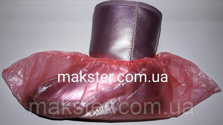 Бахилы полиэтиленовые розовые 2 гр(1000 штук), фото 2