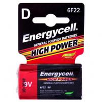 Батарейка Energycell, 9V, 6F22M-S1, солевая, крона (4820033111100)