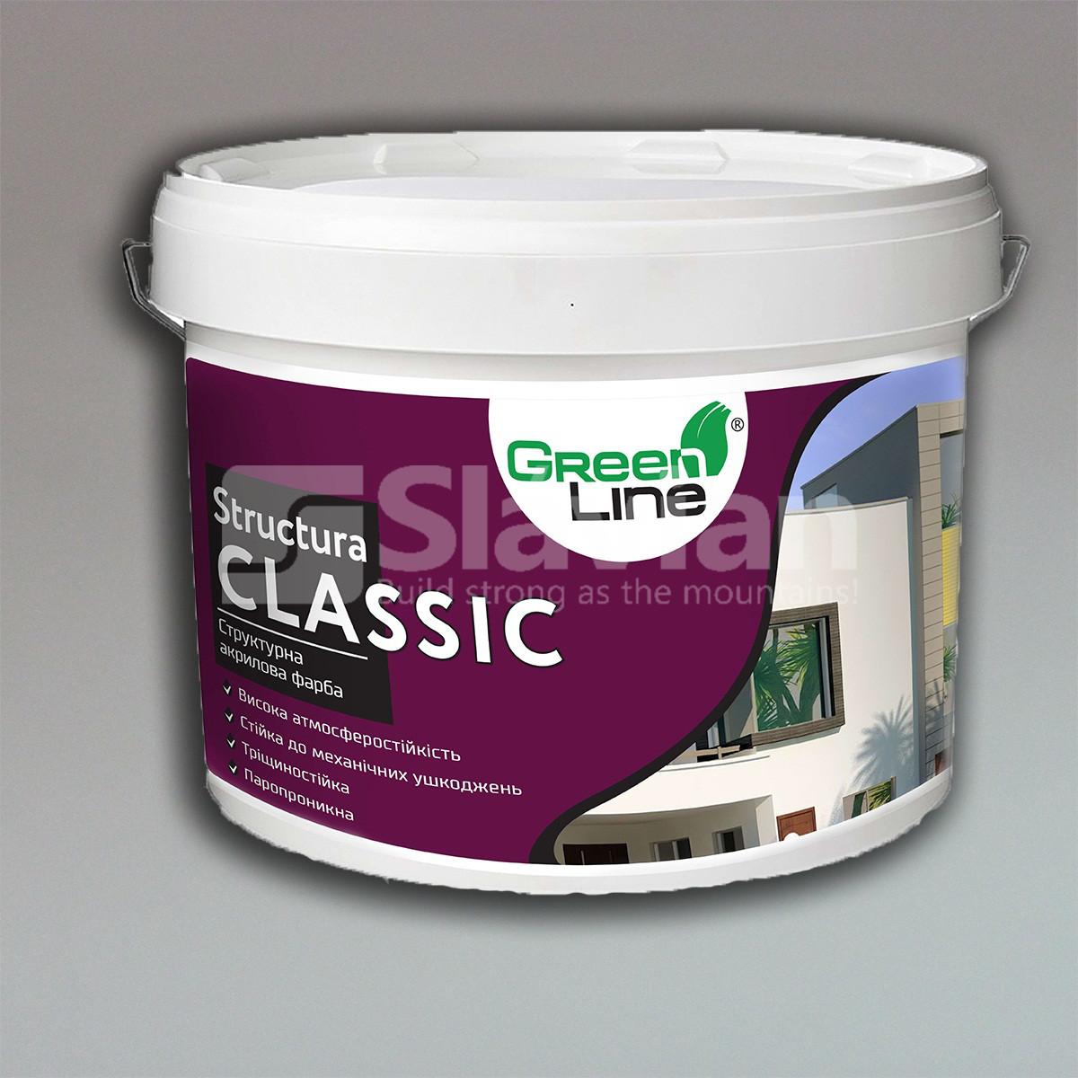 Декоративная структурная акриловая краска для внутренних и наружных работ STRUCTURA CLASSIC, 16кг