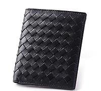 Кожаный мужской кошелек черный 0011