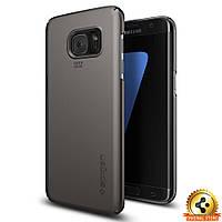 Чехол Spigen для Samsung S7 Edge Thin Fit, Gunmetal, фото 1