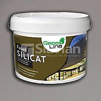 Атмосферостойкая фасадная силикатная краска FASAD SILIСAT, 10л