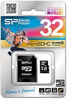 КАРТА ПАМЯТИ SILICON POWER MICROSDHC 32 GB CARD CLASS 10 (+ ADAPTER)