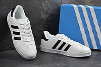 Мужские кеды Adidas Gazelle (белые), ТОП-реплика, фото 1