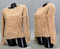 """Стильный женский свитер """"травка - двунитка"""" 46, 50 размер норма и батал"""