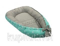Кокон для новорожденных KIDIGO (Звезды-горошек) KN-5