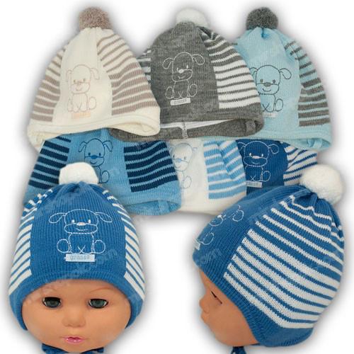 ОПТ Шапочка для новорожденного с завязками, р. 36-38 (5шт/упаковка)