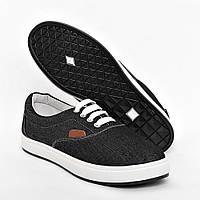 Мокасини стильні чорні біла шнурівка Gipanis