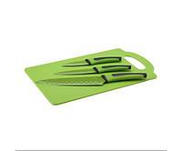 Набор ножей + доска (зеленый / 4 пр.) Renberg RB-2597-GR