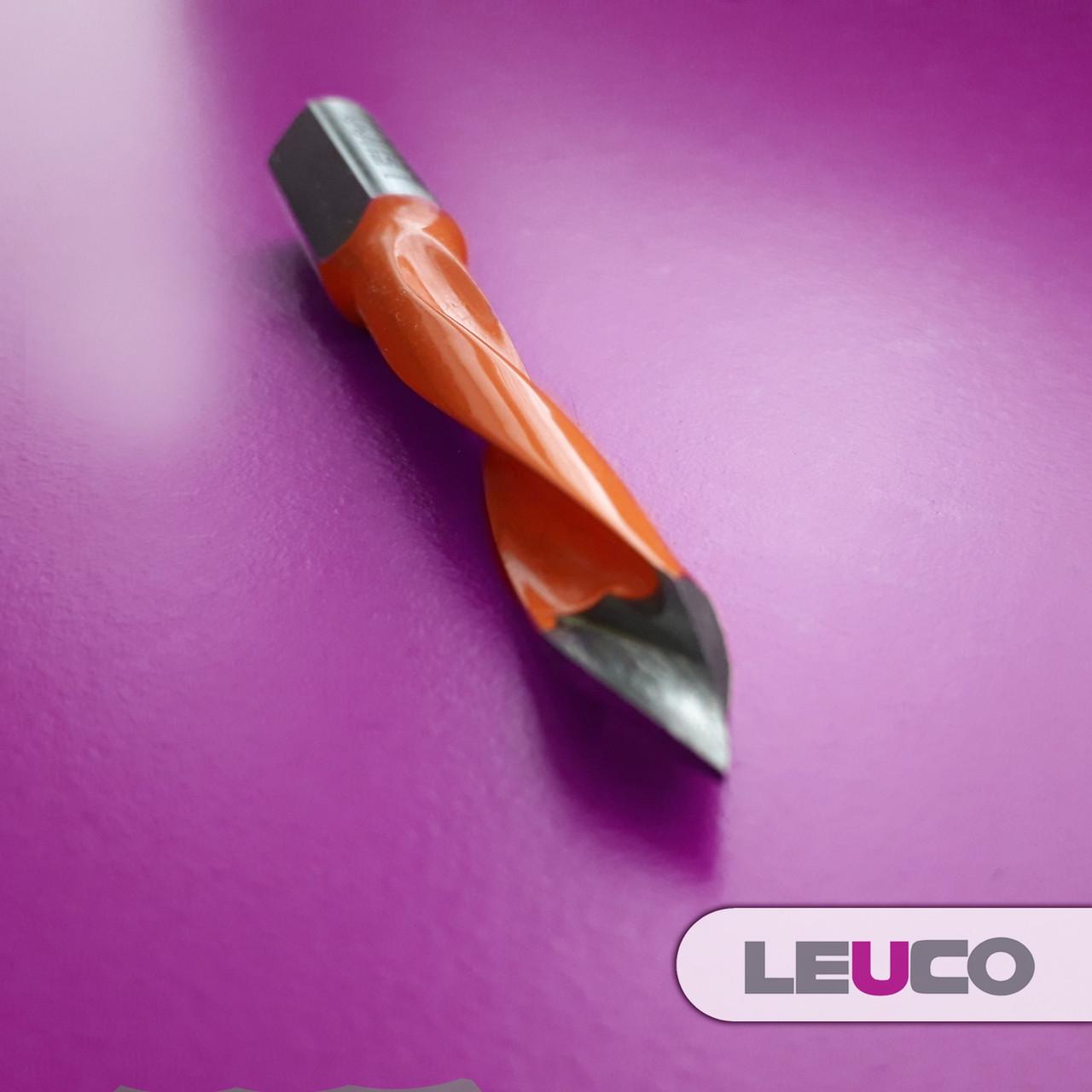 Сверло для сквозных отверстий Leuco EcoLine с наконечником из твердого сплава 8x70x44x10 (левое)