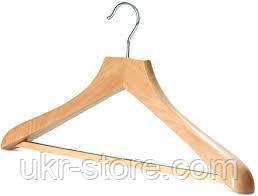 Плечики деревянные бамбуковые для тяжелой одежды