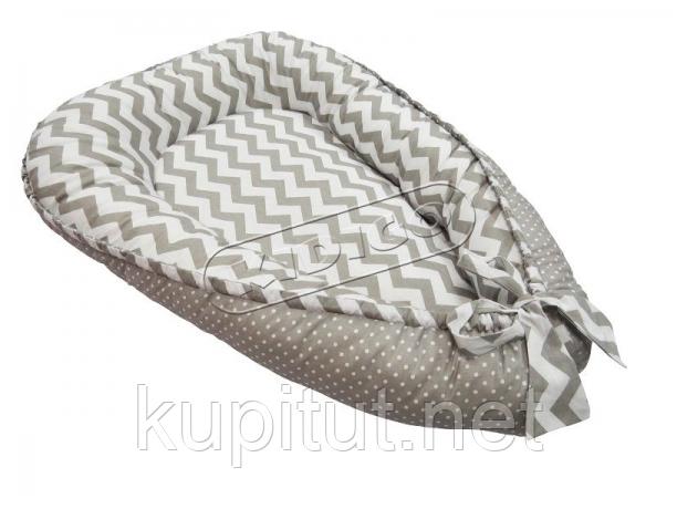 Кокон для новорожденных KIDIGO (Зигзаги-горошек) KN-3