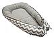 Кокон для новорожденных KIDIGO (Зигзаги-горошек) KN-3, фото 2