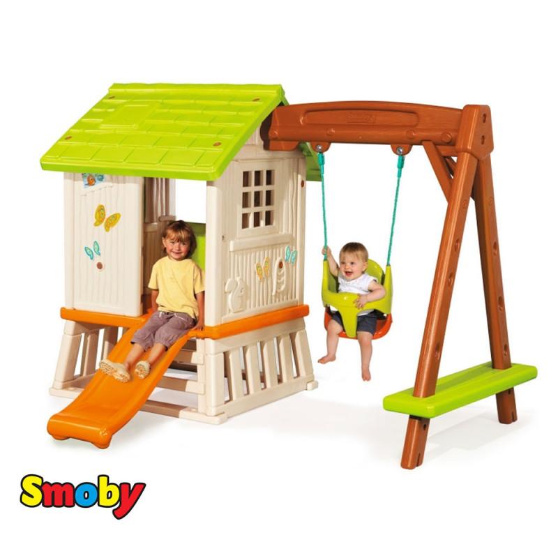 Детский игровой домик Winnie Сладкие мечты с горкой и качелей Smoby 810601