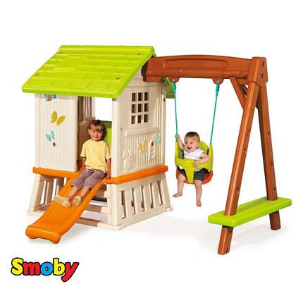 Детский игровой домик Winnie Сладкие мечты с горкой и качелей Smoby 810601, фото 2