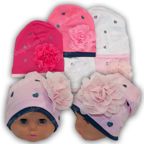Трикотажные шапки для девочек, р. 50-52