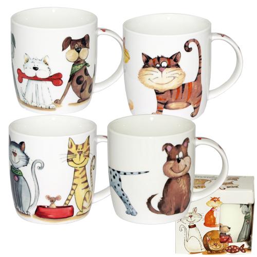 Чашка Смішні коти подарункова 360мл