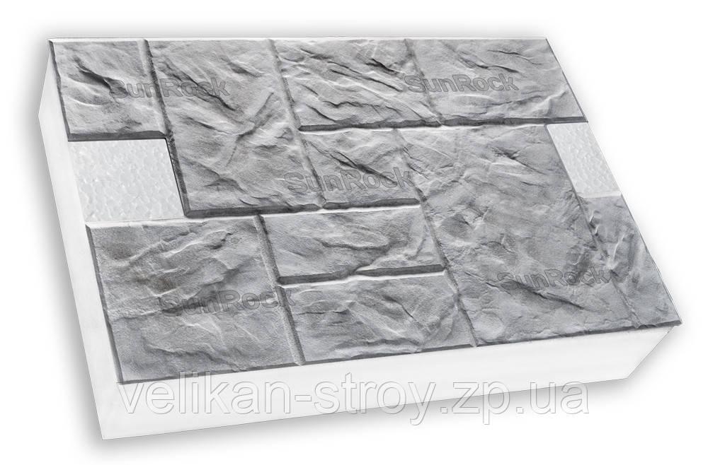 Термопанели Полифасад SunRock на пенопласте толщиной 100 мм, фото 1