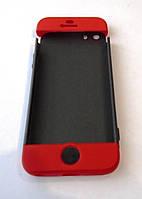 Чехол iPaky 360 градусов для Apple iPhone 5 5S SE Черно красный Red Black