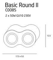 Точечный светильник Maxlight Basic Round II C0085