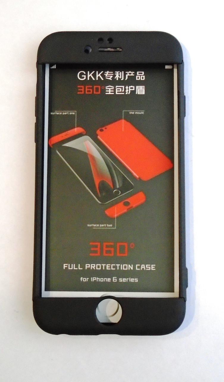 Чехол iPaky 360 градусов для Apple iPhone 6 6S  Черный Black