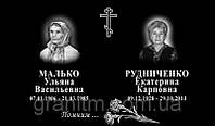 Табличка мемориальная (гранитная) с 2 портретами на керамограните